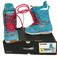 NEW Burton Sapphire Snowboard Boots!  US 7.5, UK 5.5, Euro 39  Bright Blue