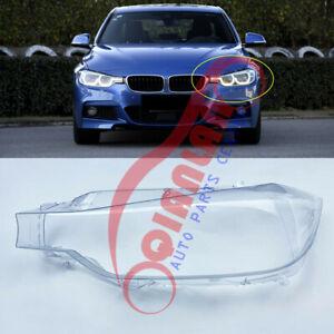 For BMW F30 3-Series 2016-2018 Left Side Headlight Lens Cover + Sealant Glue