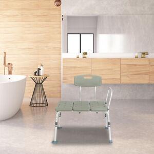 Gray Heavy Duty Wheelchair To Bath Tub Shower Transfer Bench Transfer Seat