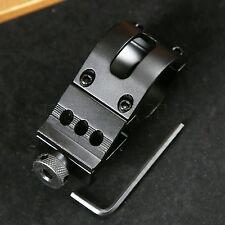 Flashlight Torch Laser Rifle Scope Offset Picatinny Weaver Clamp Rail Mount 20mm