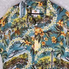 Mango Moon Hawaiian Mens Natives Capitol Hula Aloha Tropical Hawaii Island XL