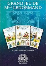 Oracle Le grand jeu de mademoiselle Lenormand + livret en Français, édition 2020