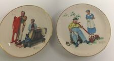 Lot of 2 Norman Rockwell Gorham Limited Edition Collector Plates 1978