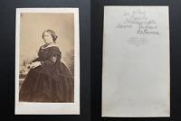 Disdéri, Paris, Louise d'Artois, Duchesse de Parme Vintage albumen print CDV.