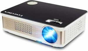 """TANGCISON Video Projector,LCD Projector 1500Luminous 160"""" HD 1080P BLACK"""
