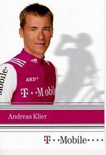 CYCLISME  carte cycliste ANDREAS KLIER équipe T MOBILE