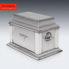 More details for superb 20thc french air force solid silver cigar & cigarette humidor box c.1927
