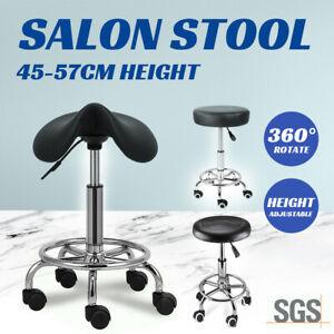Saddle Salon Stool Bar Swivel Chair Massage Barber Hairdressing Hydraulic Lift