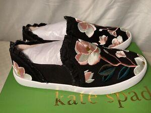 Kate Spade Womens Leonie Slip On Floral Sneakers Trainers UK 4.5 rrp £127