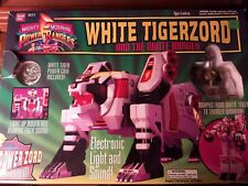 Power Rangers White Tigerzord with White Ranger figure; good condition