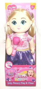 "Pocket Watch Love, Diana 15"" Diana Popstar Plush Doll -Sing, Record, Play, Cheer"