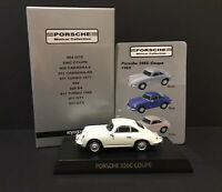 Kyosho 1/64 Porsche 356C Coupe 1965 Diecast Car Model WHITE