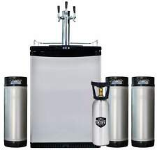 NEW: Mangrove Jack's Kegerator Triple Tap 3x Taps with 3 New Kegs + FREE CO2 Cyl