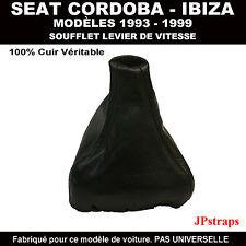 SEAT CORDOBA - IBIZA (1993-1999) SOUFFLET LEVIER DE VITESSE 100% CUIR NOIR
