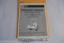 Honda Rotary Tiller TL5040 For Multi Purpose Tractor Operation's Manual