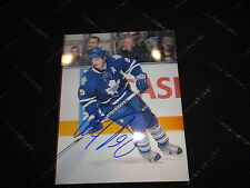 Colby Armstrong signed Toronto Maple Leafs photo COA GA Pittsburgh Penguins