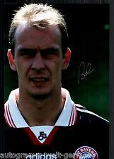 Mario Basler super grandi foto 20x30 cm il Bayern Monaco ORIG. Sign. +23