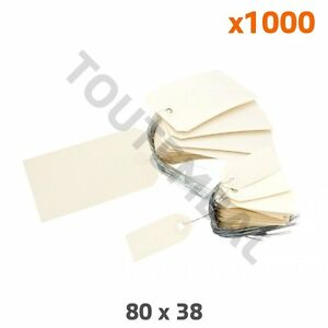 Etiquette américaine carton 80 x 38 mm (par 1000)