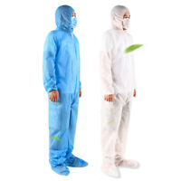 Unisex Coveralls Isolation Suit Full Body Protective Suits Doctor Nurse Workwear