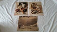 Babe Ruth, Ty Cobb, Lou Gehrig ~ MLB Baseball Prints ~ 1993 ~ Lot of 3