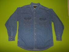 Western Shirt WRANGLER AUTHENTIC WESTERN (L) 100% COTTON PERFECT !!! Jeans Denim