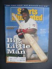 Sports Illustrated April 6, 1992 Kirby Puckett Twins MLB NCAA Michigan Apr '92 D