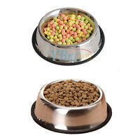 Stainless Steel Puppy Dog Feeder Feeding Food Water Dish Bowl for Pet Dog Cat