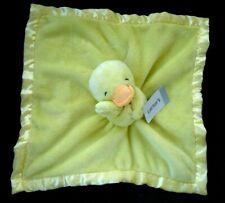 Carter's Yellow Duck Orange Beak Satin Back Security Blanket New