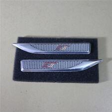 Pair Red ST Small Aluminum Alloy Emblem Decal Sticker Badge Racing focus gt #3