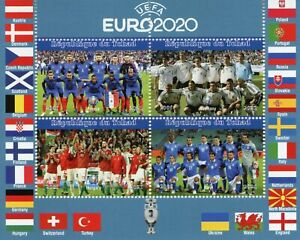 Chad Football Stamps 2021 CTO UEFA Euro 2020 France Germany Soccer Sports 4v M/S