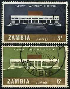 Zambia 1967 SG#120-121 National Assembly Building Used Set #D76959