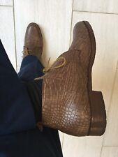 John Lobb Last by N TUZECK Dress Chukka Boots  Alligator. Rare 9D Stunning