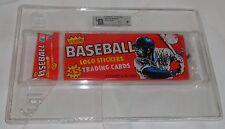 RARE Vintage 1982 Fleer Baseball Wax Rack Pack Graded GAI 9 Mint Sealed FREESHIP