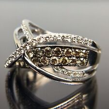 Le Vian 14k White Gold Diamond Crossover Pave Ring