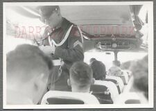 Vintage Photo Holland Border Police Man Checking Visas on Bus 695060
