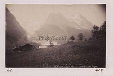 Grindelwald Glacier Eiger SuisseSwiss Vintage albumine