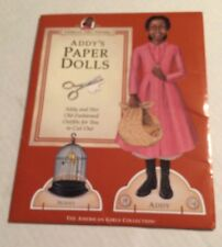 American Girls Pastimes Addy's Paper Dolls