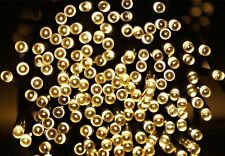 Solar Yellow 100 LED Fairy String Lights Outdoor Party Decorate Lights