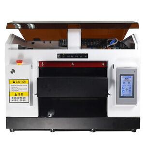 8 Color A3 DX5 UV DTG Printer Rotary Holder Cylindrical Item Embossed DHL