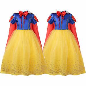Kids Girls Princess Party Dress Snow White Princess Cosplay Costume Funcy Dress