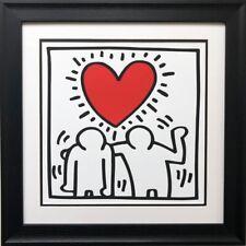 "Keith Haring ""KH03"" CUSTOM FRAMED Print Art POP Heart Love People Street"