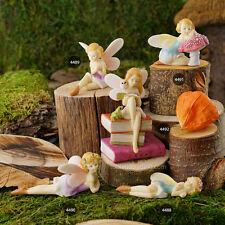 Miniature flower fairy & pixie figurines for fairy gardens and terrariums