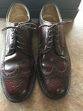 Rockport Men's Wingtip Dress Shoes Size 8.5 M  Burgundy Brown Leather Upper