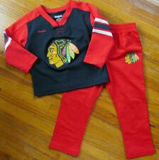 Chicago Blackhawks Toddler 2 Piece Reebok 24 Months Pajamas PJs Shirt Pants