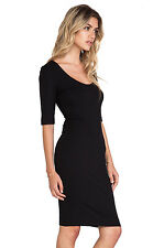 NWT Diane von Furstenberg Raquel black stretch jersey light sheath dress P - XS