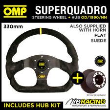 RENAULT CLIO MK2 ALL 98-06 OMP SUPER QUADRO FLAT BOTTOM STEERING WHEEL & HUB KIT