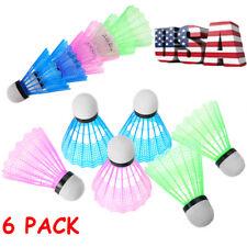 6PCS Multicolor Plastic Badminton Ball Shuttlecock Durable Sports Training USA