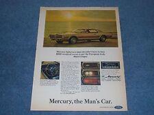 """1967 Mercury Cougar Vintage Color Ad """"...The Man's Car"""""""