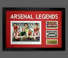 More details for arsenal fc 1971 double winners photograph signed by 7 in a framed presentation.