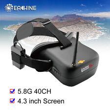 "Eachine Fpv Goggles Vr-007 Pro 5.8G 40Ch 4.3"" Tft Lcd Monitor 1600mAh Battery Us"